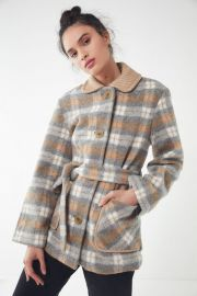 UO Belted Lady Coat at Urban Outfitters