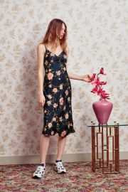 UO Betsy Satin Tie-Front Midi Dress at Urban Outfitters