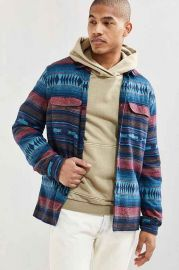 UO Blanket Jacquard Flannel Button-Down Shirt at Urban Outfitters