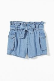 UO Fiona Denim Paperbag Short at Urban Outfitters