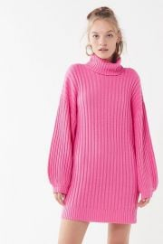 UO Jill Turtleneck Sweater Mini Dress at Urban Outfitters