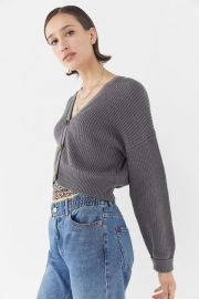 UO Kai Cropped Cardigan by Urban Outfitters at Urban Outfitters