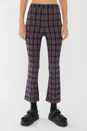 UO Lola Plaid Kick Flare Pant at Urban Outfitters