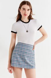 UO PLAID PELMET MINI SKIRT at Urban Outfitters