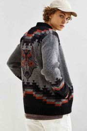 UO Patterned Shawl Cardigan at Urban Outfitters