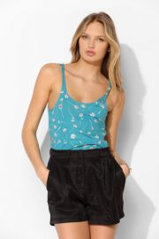 UO Printed Shirttail Tank at Urban Outfitters
