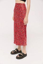 UO Satin Bias Cut Midi Slip Skirt at Urban Outfitters