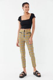 UO Susie High-Waisted Zip-Front Pants at Urban Outfitters
