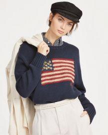 USA Flag Intarsia Knit Sweater by Ralph Lauren at Ralph Lauren
