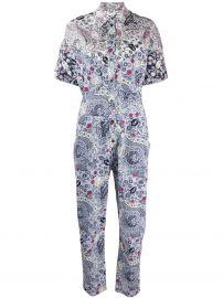 Udena print shirt jumpsuit at Farfetch