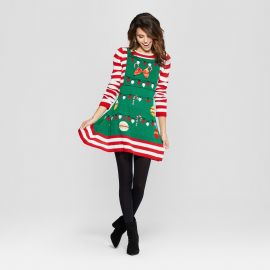 Ugly Christmas Candy Cane Striped Dress by Born Famous at Target at Target