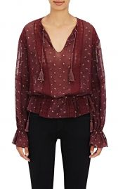 Ulla Johnson Elke Embroidered Georgette Blouse at Barneys Warehouse