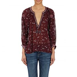 Ulla Johnson Lida embroidered silk  Blouse at The Real Real