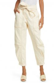 Ulla Johnson Storm Tie Waist Tapered Jeans   Nordstrom at Nordstrom