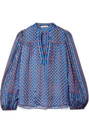 Ulla Johnson   Constance printed silk-jacquard blouse at Net A Porter