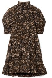 Ulla Johnson - Josie smocked floral-print silk-georgette mini dress at Net A Porter