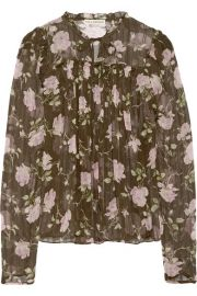 Ulla Johnson   Petunia floral-print silk-crepon blouse at Net A Porter
