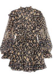 Ulla Johnson - Vienne printed metallic fil coup   silk-blend chiffon mini dress at Net A Porter