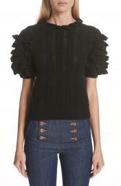 Ulla Johnson Amie Ruffle Sleeve Cashmere Sweater   Nordstrom at Nordstrom