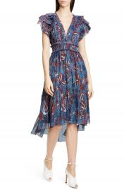 Ulla Johnson Cicely Silk Blend High Low Dress   Nordstrom at Nordstrom