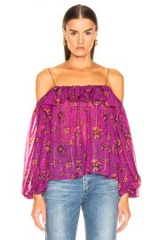 Ulla Johnson Coline Blouse in Magenta   FWRD at Forward