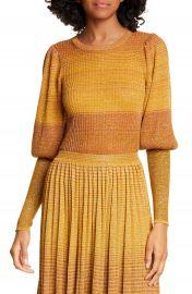Ulla Johnson Dax Metallic Stripe Sweater   Nordstrom at Nordstrom