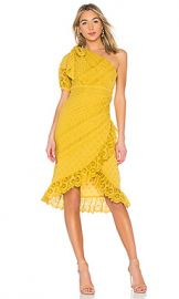 Ulla Johnson Gwyneth Dress in Chartreuse from Revolve com at Revolve