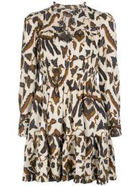 Ulla Johnson Printed Long Sleeve Dress - Farfetch at Farfetch
