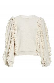 Ulla Johnson Sage Fringe Sleeve Sweatshirt   Nordstrom at Nordstrom