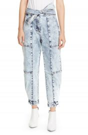 Ulla Johnson Storm Tie Waist Tapered Acid Wash Jeans   Nordstrom at Nordstrom