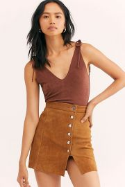 Understated Suede Mini Skirt at Free People