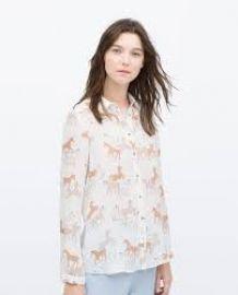 Unicorn print shirt at Zara