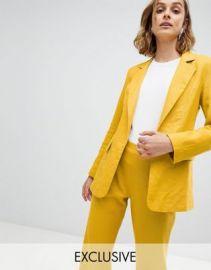 Unique 21 linen blazer two-piece at asos com at Asos