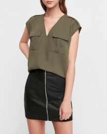 Utility top at Express