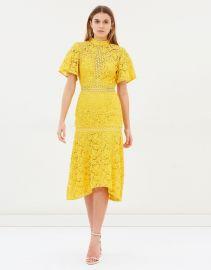 Utopia Lace Midi Dress at The Iconic