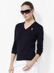 V Neck Cotton Sweater at Ralph Lauren