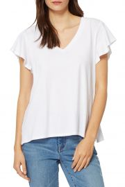 V-Neck Flutter Sleeve T-Shirt at Nordstrom Rack