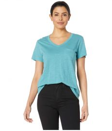 V-Neck Pocket Cotton Tee at Zappos