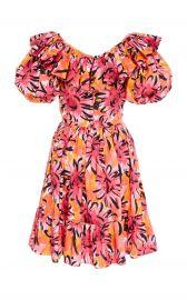 V-Neck Puff Sleeve Cotton Dress by Michael Kors at Michael Kors