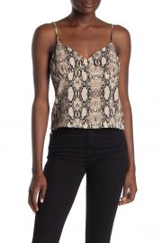 V-Neck Snake Print Camisole at Nordstrom Rack