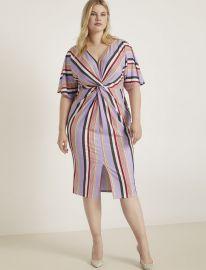 V-Neck Twist Front Dress by Eloquii at Eloquii