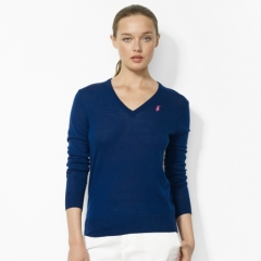 V Neck Wool Sweater at Ralph Lauren