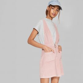 V-Neck Zip Front Corduroy Mini Dress by Wild Fable at Target at Target