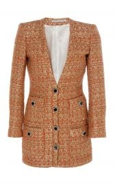 V-neck Sequin-Tweed Mini Dress by Alessandra Rich at Moda Operandi