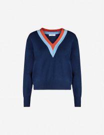 V-neck wool and cashmere-blend jumper at Selfridges