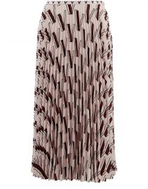 V-print pleated skirt by Valentino at 24S