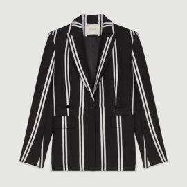 VAKILA Striped tailor jacket at Maje