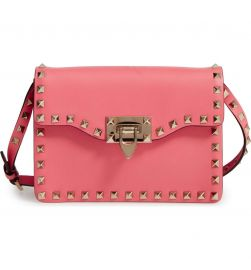 VALENTINO GARAVANI Rockstud Leather Crossbody Bag at Nordstrom