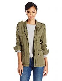 VELVET BY GRAHAM  amp  SPENCER Women s Ruby Army Jacket at Amazon