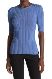 VERONICA BEARD   Dillon Ribbed Crew Neck Top   Nordstrom Rack at Nordstrom Rack